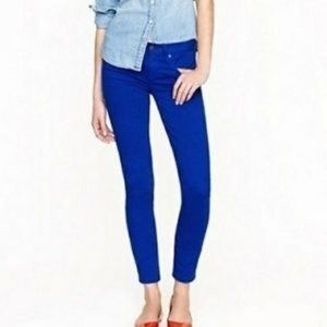 J. Crew Royal Blue Toothpick Ankle Jeans